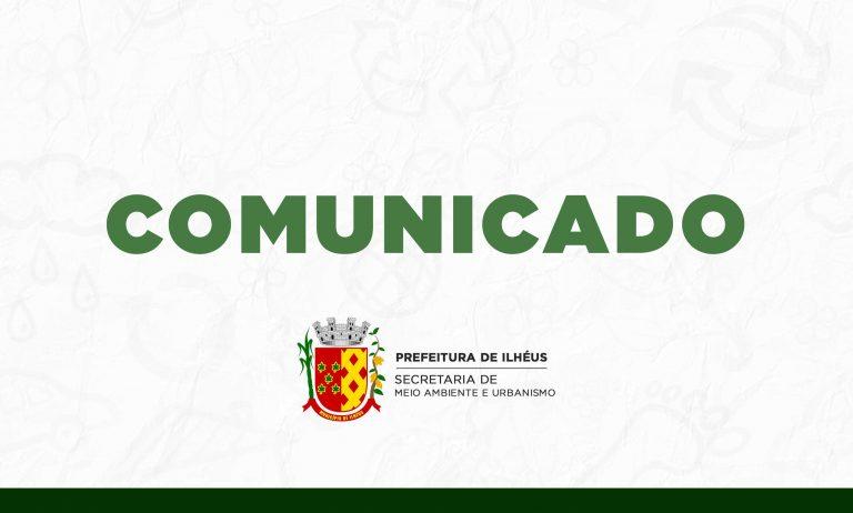 COMUNICADO À POPULAÇÃO SOBRE CORTE DE PALMEIRAS NA PRAÇA RUI BARBOSA